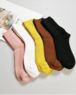 全棉襪子 (1组5對) - 79985-3號色