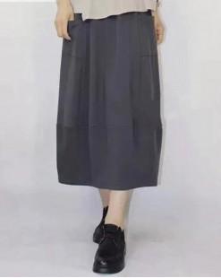 韓版秋季簡約淨色半截裙 - 83841 #全店新品4件起75折優惠碼 : -25OFF (HK$120) #