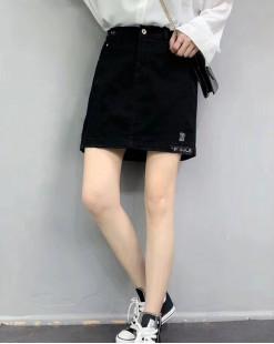 韓國直送 BLUE VERY百搭顯瘦牛仔裙- 83843  #全店新品4件起75折優惠碼:-25OFF (HK$135) #