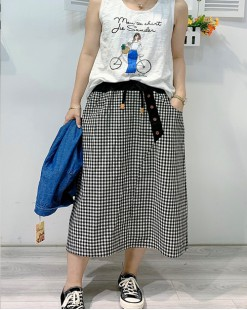 Final Sale 最後勁減,半截裙單件6折 - 格仔時尚半截裙 - 83899