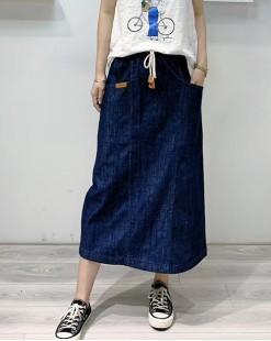 Final Sale 最後勁減,半截裙單件6折 -  兩褲袋牛仔半截裙 - 83900