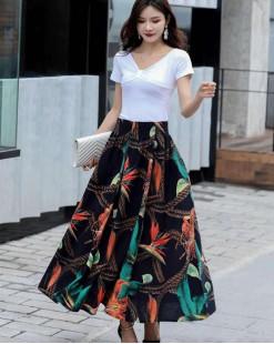 Final Sale 最後勁減,半截裙單件6折 - 名族風全橡筋半截裙 - 83902