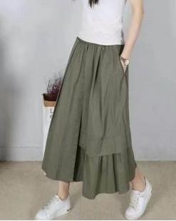 時尚淨色扯布半截裙 - 84035- 全店85折,購滿$268即減$20(輸入LESS20) 購滿$618即減$68(輸入LESS68)