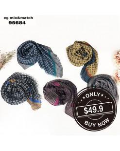 潮款薄圍巾-95684