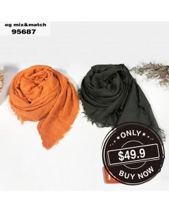 潮款薄圍巾-95687