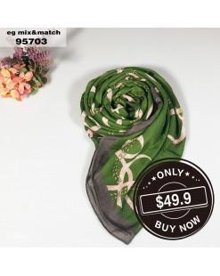 潮款薄圍巾-95703