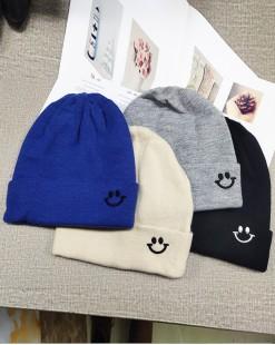 可愛笑臉針織冷帽 - 99651
