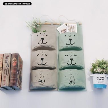 三層棉麻掛袋 - H0002