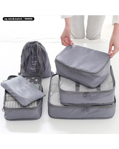 旅行衣物收納袋 (1套6件裝) -H0065