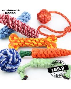 狗狗繩結玩具(1套6件) - H0096